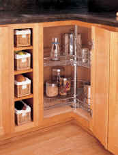 Premier quality chrome lazy susan kidney shape for corner cabinets
