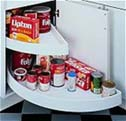 dead blind corner access from Rev A Shelf and kitchen shelves to make your life easier