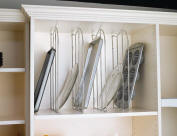 tray dividers for baking tray and cookie sheet storage in your kitchen cabinet