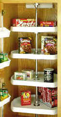 d shaped lazy susan for your kitchen pantry cabinet storage
