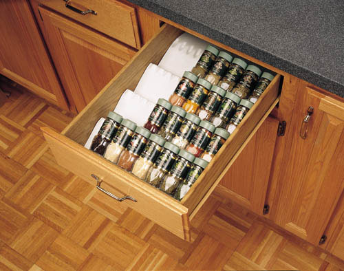 kitchen cabinet drawer spice bottle storage insert organizer spice rack organization