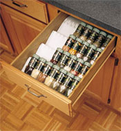 spice rack insert for your kitchen storage makes organizing your spices a breeze